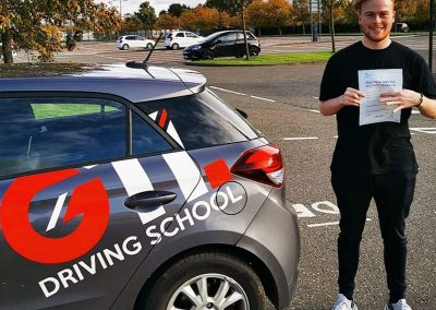 driving lesson pupil after passing their test
